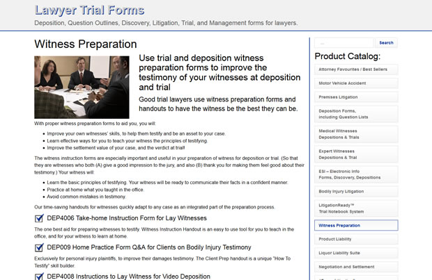 Lawyer Trial Forms